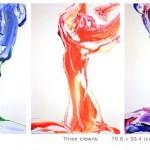 세 명의 삐에로, 33.4x24.2, oil oncanvas, 2010