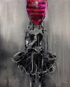 서있는 삐에로, 90.9x72.7, oil oncanvas, 2013