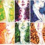 여섯 명의 삐에로, 33.4x24.2, oil oncanvas, 2010