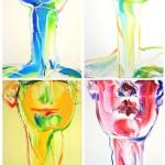 네 명의 삐에로, 33.4x24.2, oil oncanvas, 2010