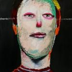 excellent clown, 90.9x72.7, mixed media, 2015