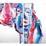 삐에로 연인, 33.4x24.2(EA), oil on canvas, 2010