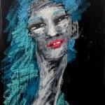 뛰어난 삐에로(Excellent Clown), 33.4x24.2, Mixed media on canvas, 2015